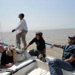 Navegando en velero por el Río de la Plata