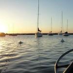 Barcos en el puerto de Colonia